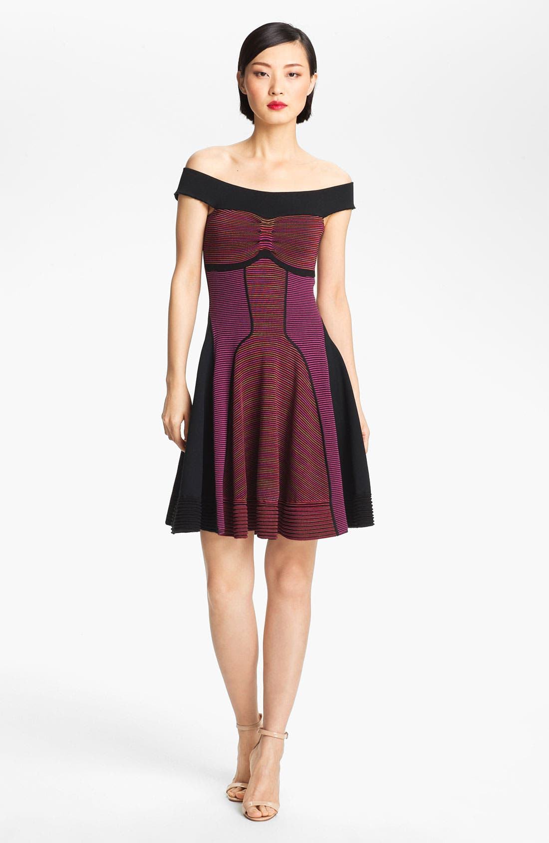 Alternate Image 1 Selected - M Missoni Off Shoulder Knit Dress