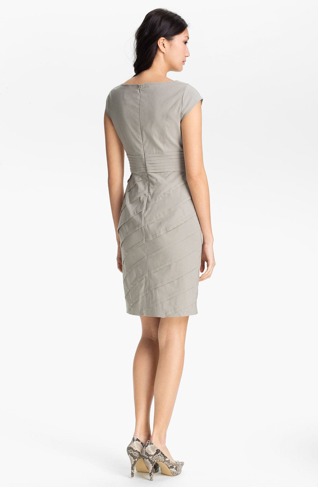 Alternate Image 2  - Adrianna Papell Cap Sleeve Sheath Dress