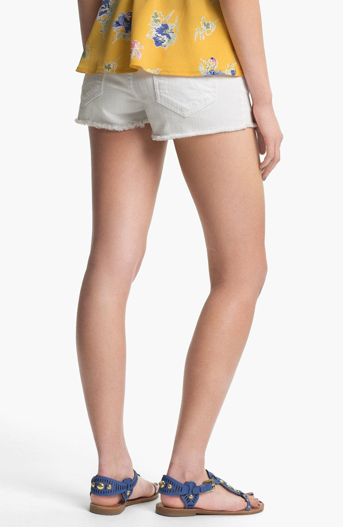 Alternate Image 2  - STS Blue Cutoff Denim Shorts (White) (Juniors)