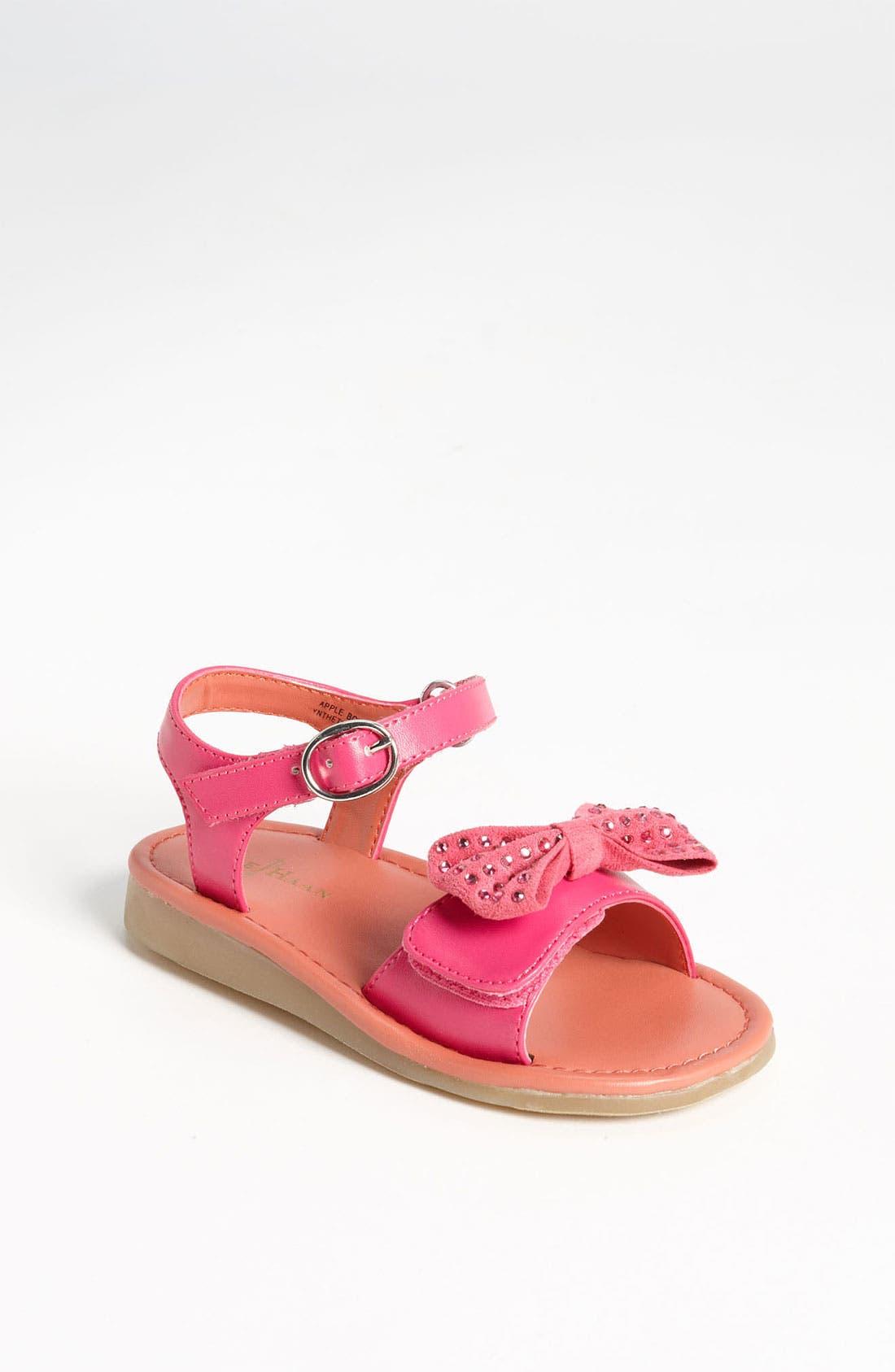 Alternate Image 1 Selected - Cole Haan 'Apple Bow' Sandal (Walker & Toddler)