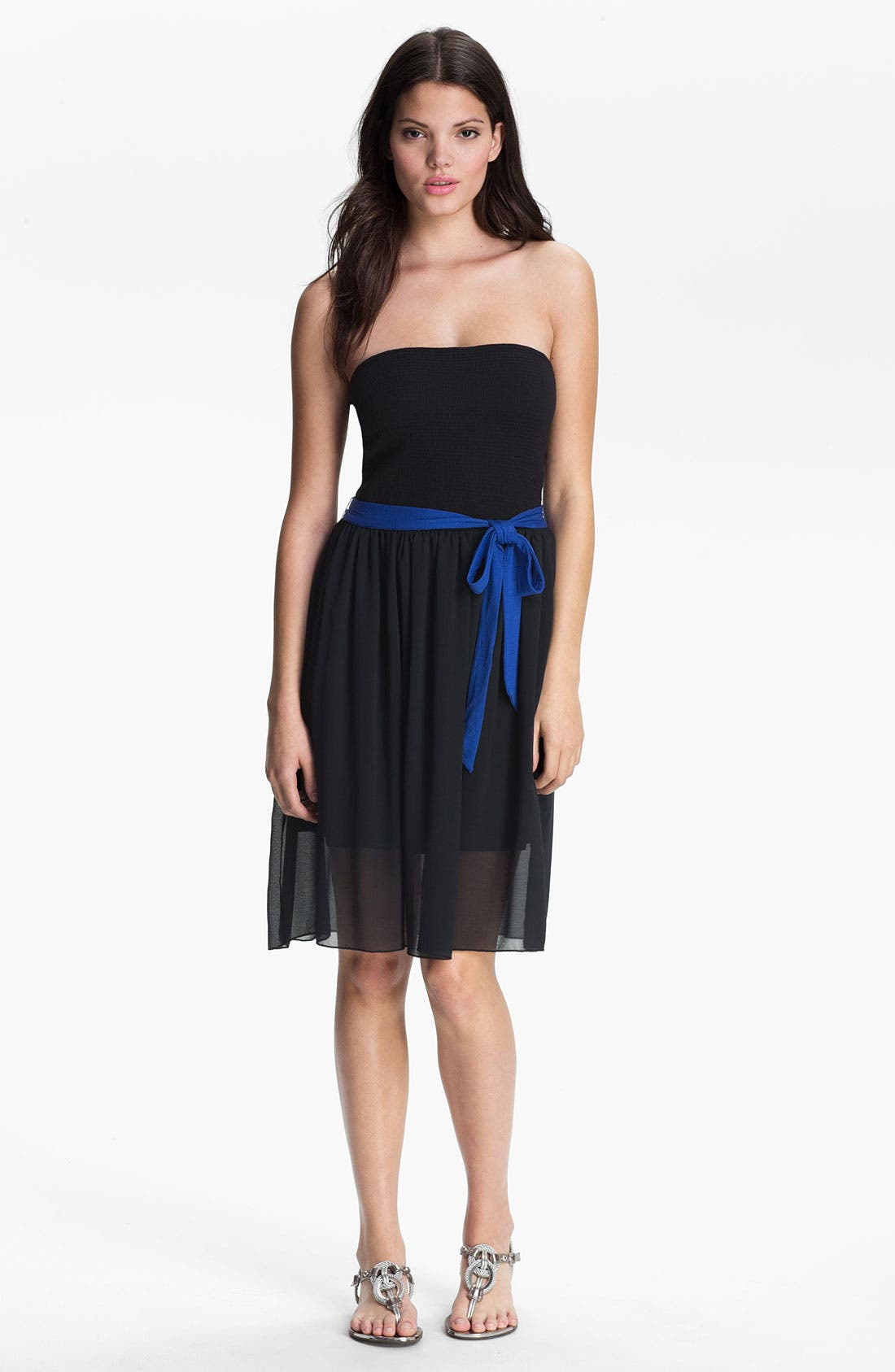 Alternate Image 1 Selected - Kensie Belted Strapless Dress
