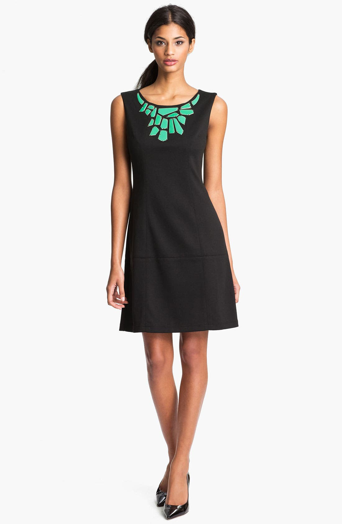 Alternate Image 1 Selected - Vince Camuto Embellished Collar Shift Dress