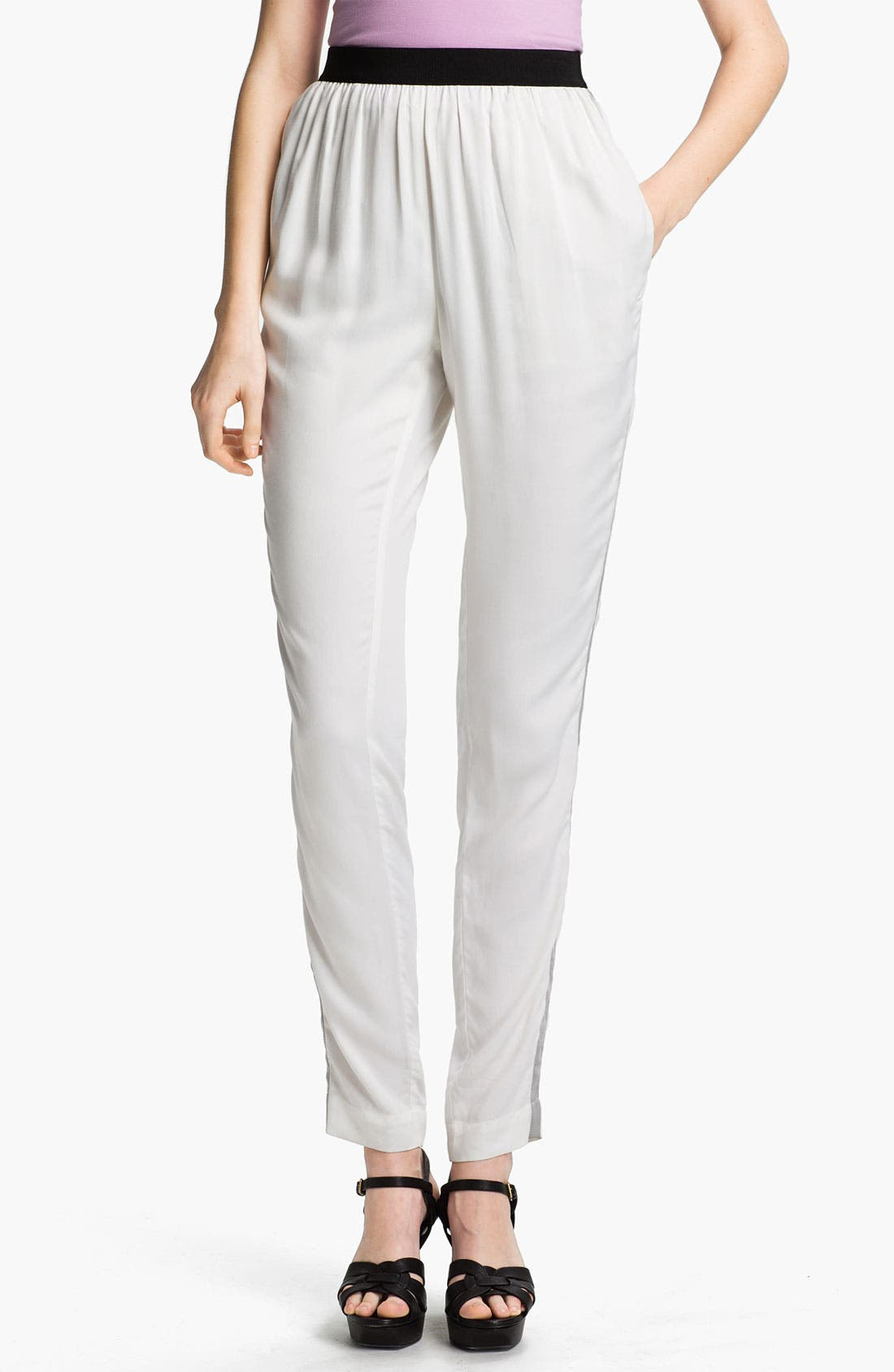 Alternate Image 1 Selected - L'AGENCE Tuxedo Stripe Twill Pants