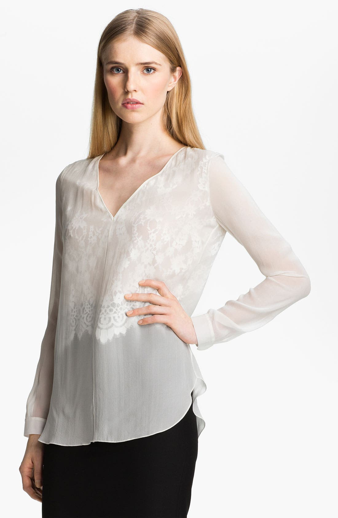Alternate Image 2  - Robert Rodriguez Illusion Lace Shirt