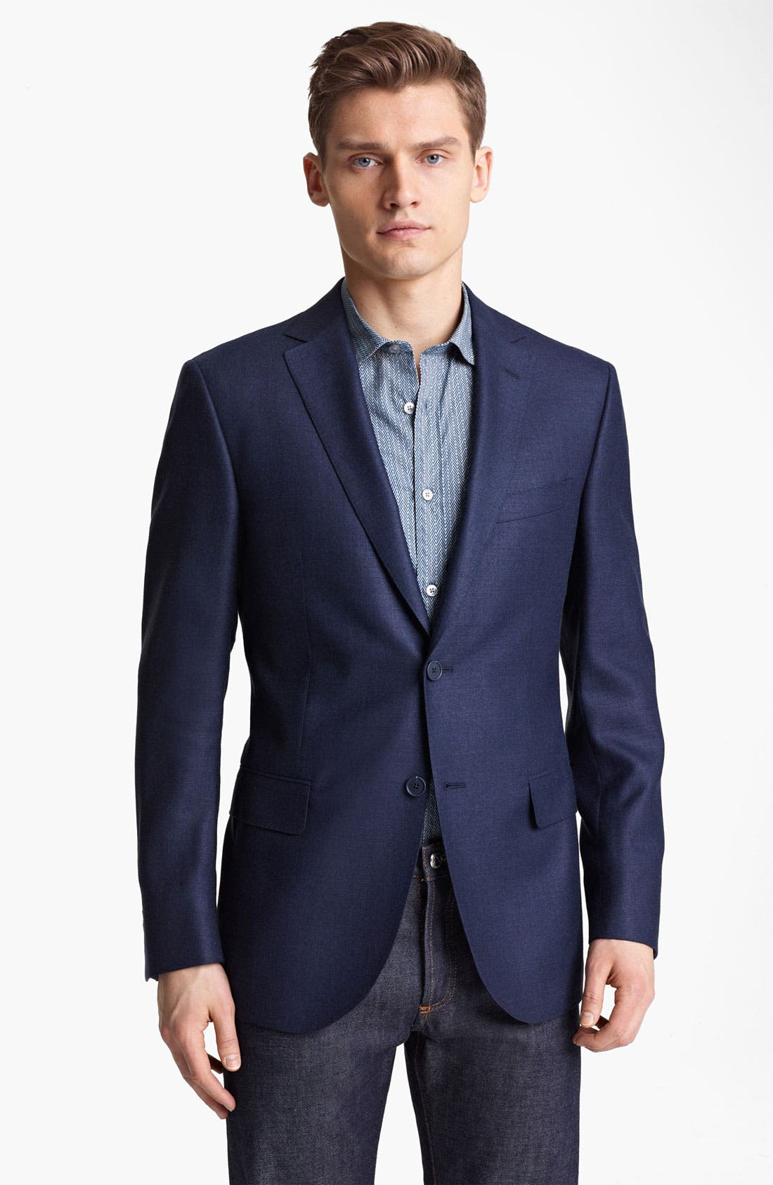 Main Image - Z Zegna Trim Fit Wool Blend Blazer