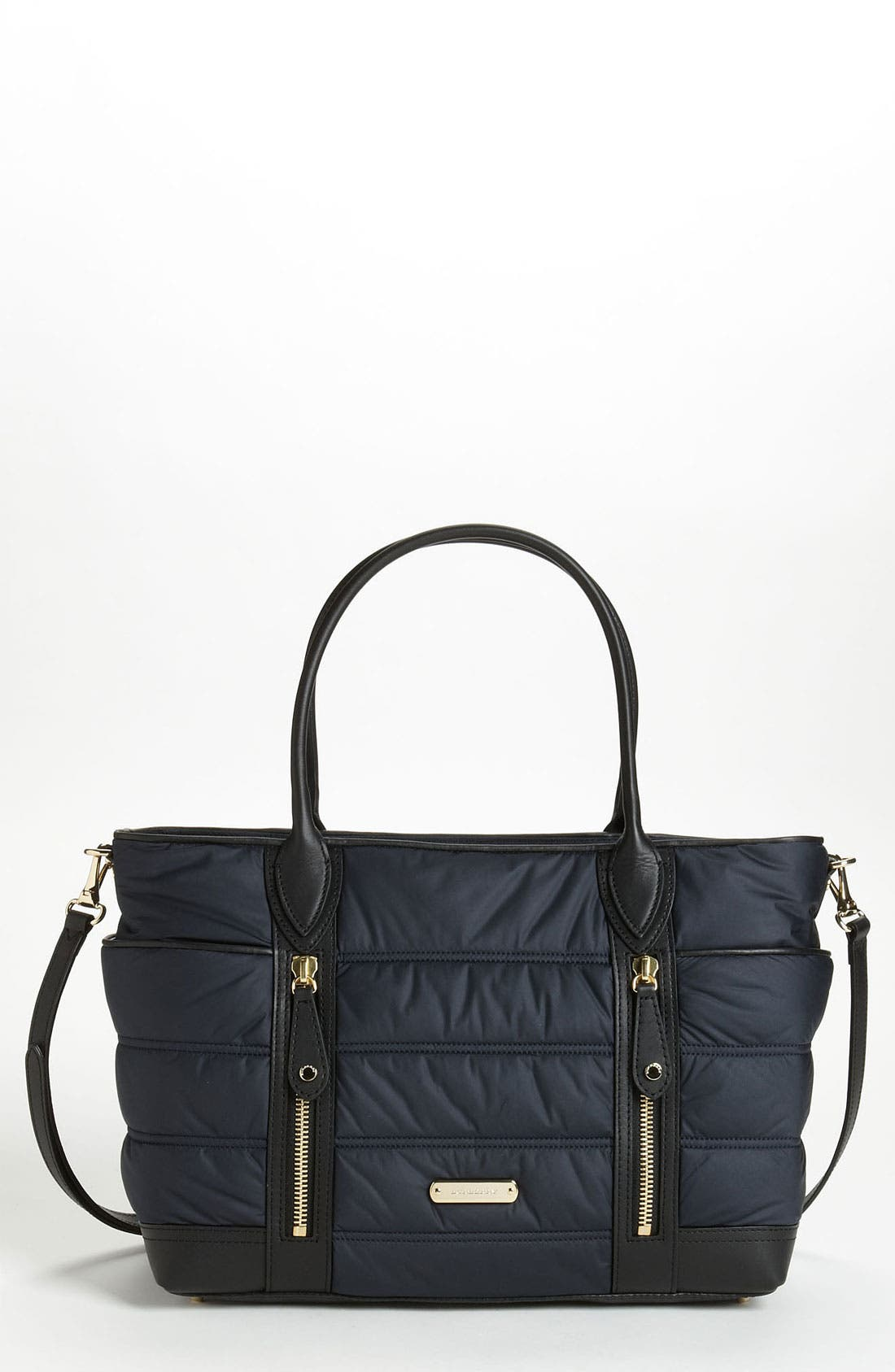 Main Image - Burberry 'Olympia - Large' Quilted Diaper Bag