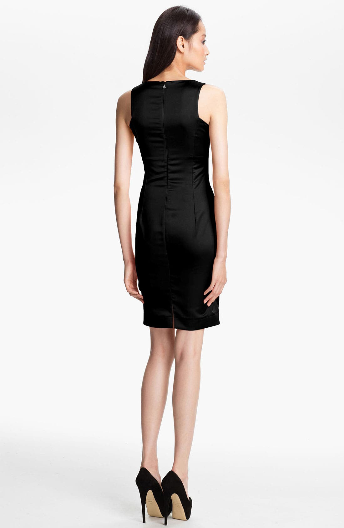 Alternate Image 2  - Just Cavalli Stretch Satin Sheath Dress