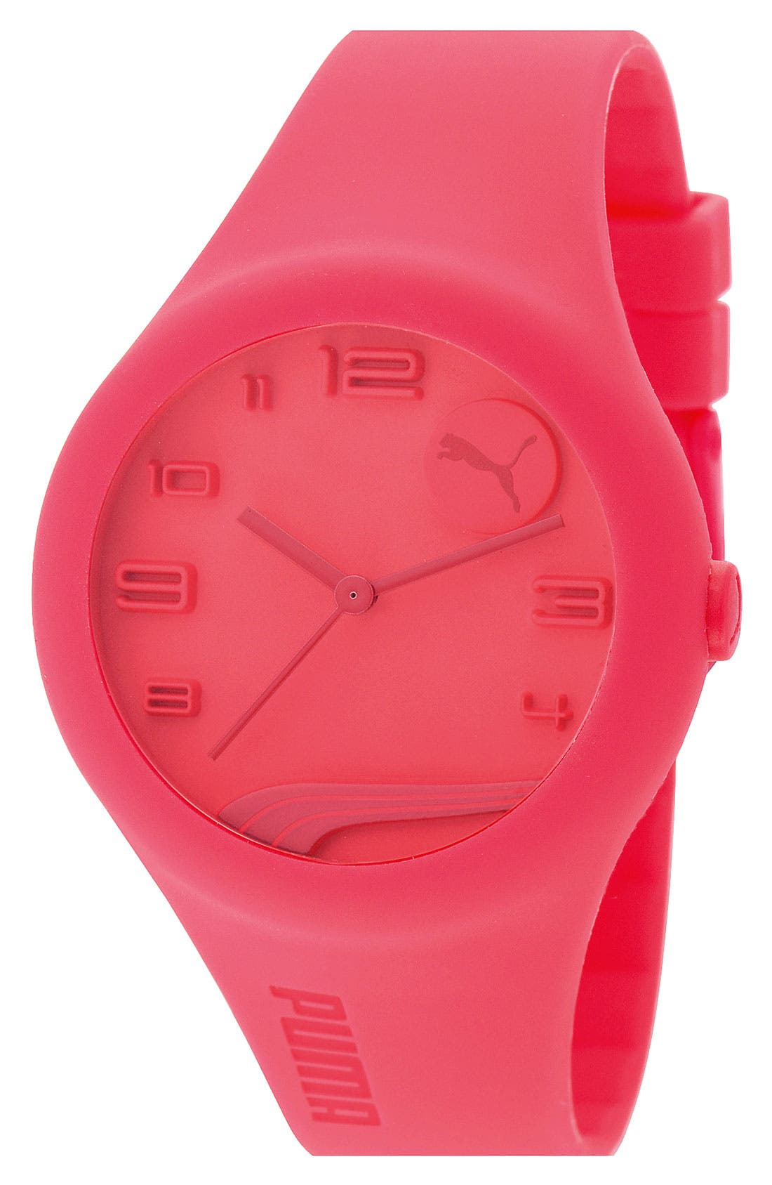 Alternate Image 1 Selected - PUMA 'Form' Silicone Watch, 44mm