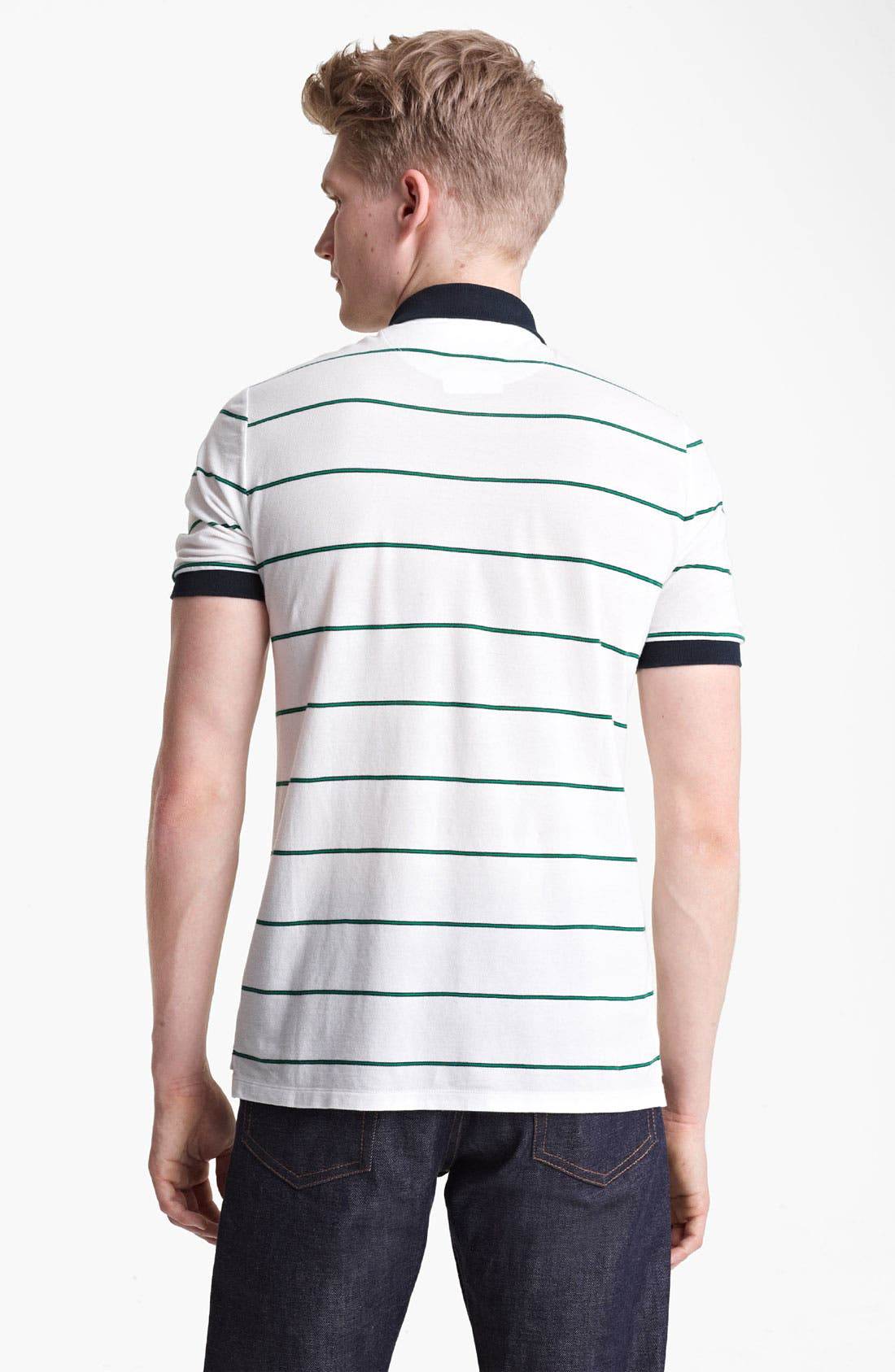Alternate Image 2  - Band of Outsiders Stripe Piqué Polo