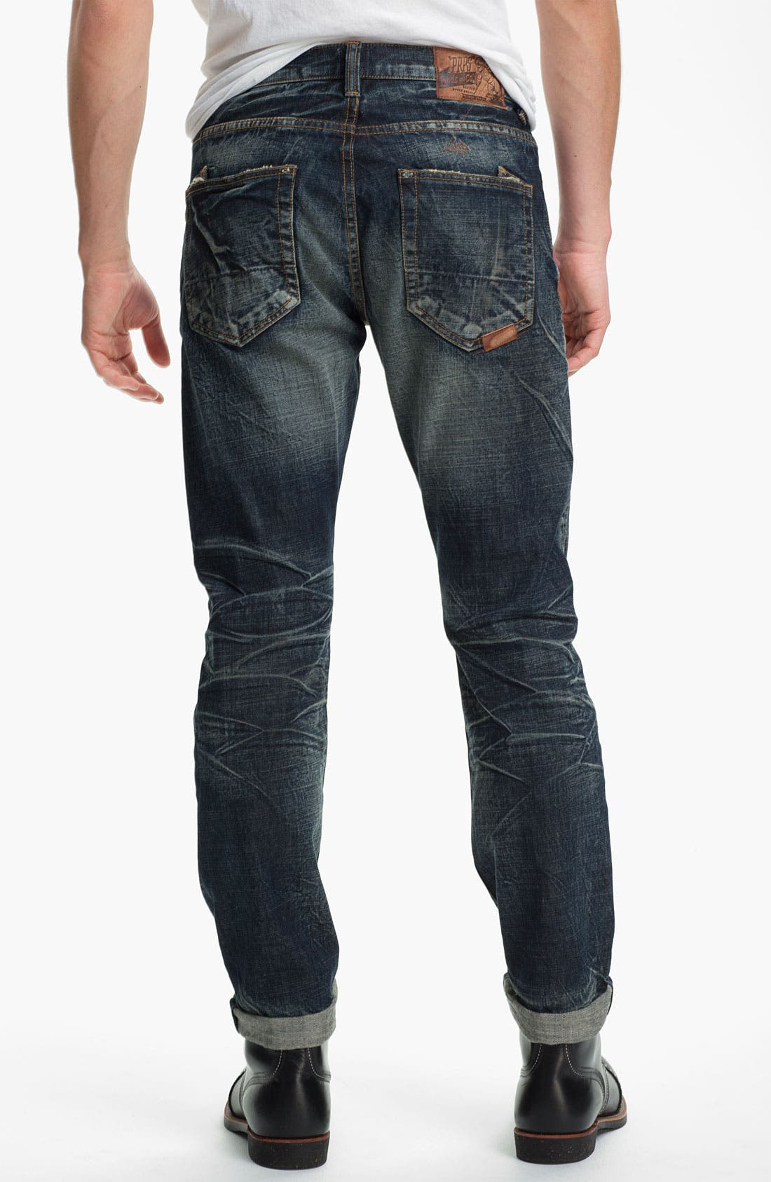 Alternate Image 1 Selected - PRPS 'Barracuda' Straight Leg Jeans (Dark Blue)