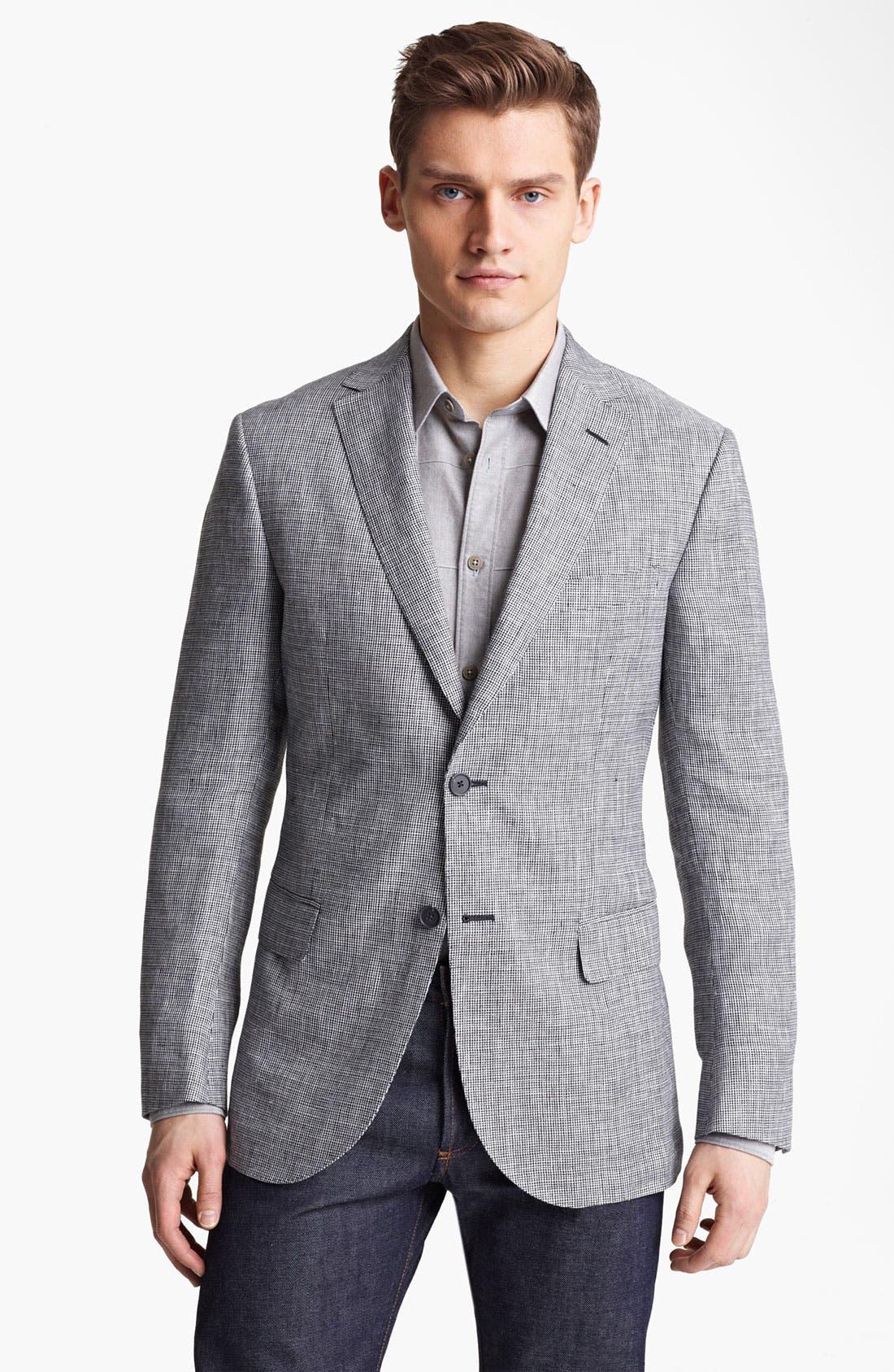 Main Image - Z Zegna Trim Fit Linen Sportcoat