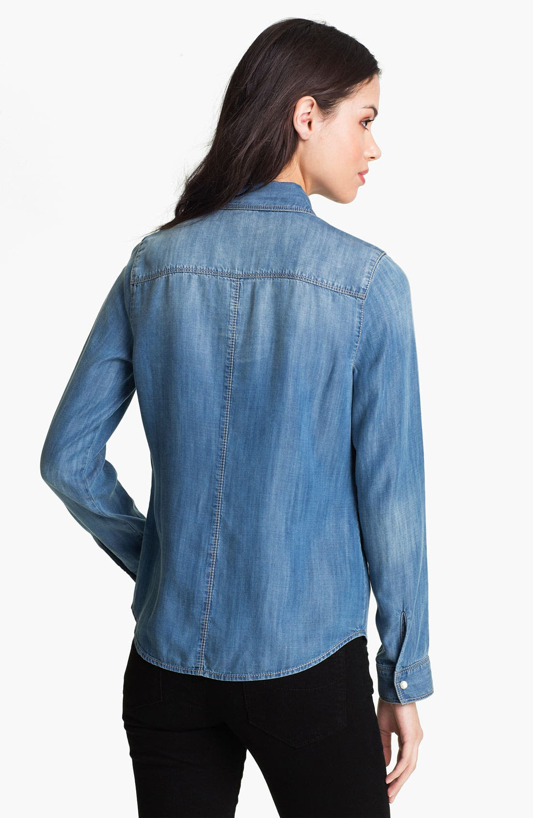 Alternate Image 2  - Trouvé Flap Pocket Denim Shirt