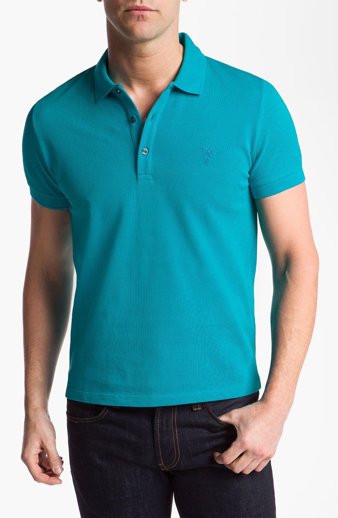 Main Image - Versace Short Sleeve Polo Shirt