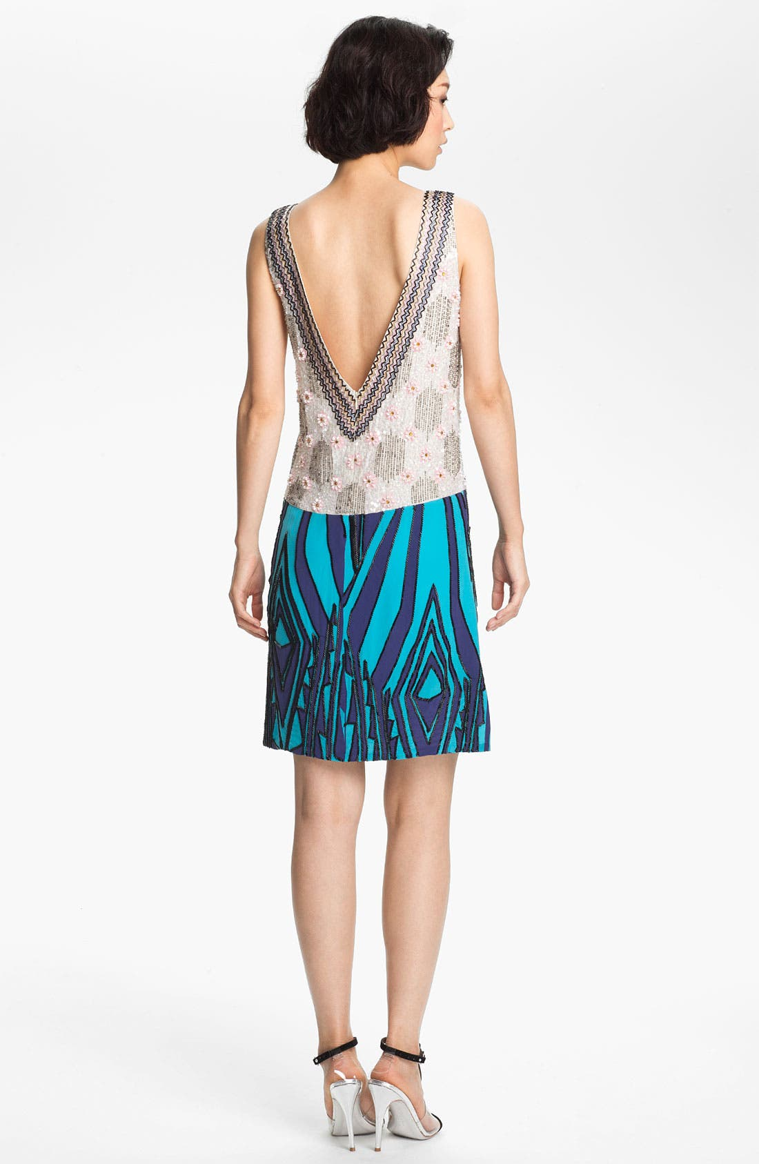 Alternate Image 2  - Tracy Reese Beaded Silk Shift Dress