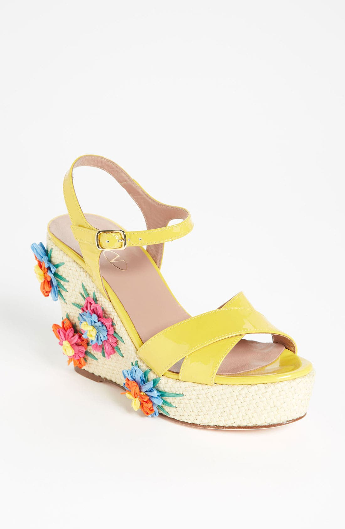 Main Image - RED Valentino Embroidered Wedge