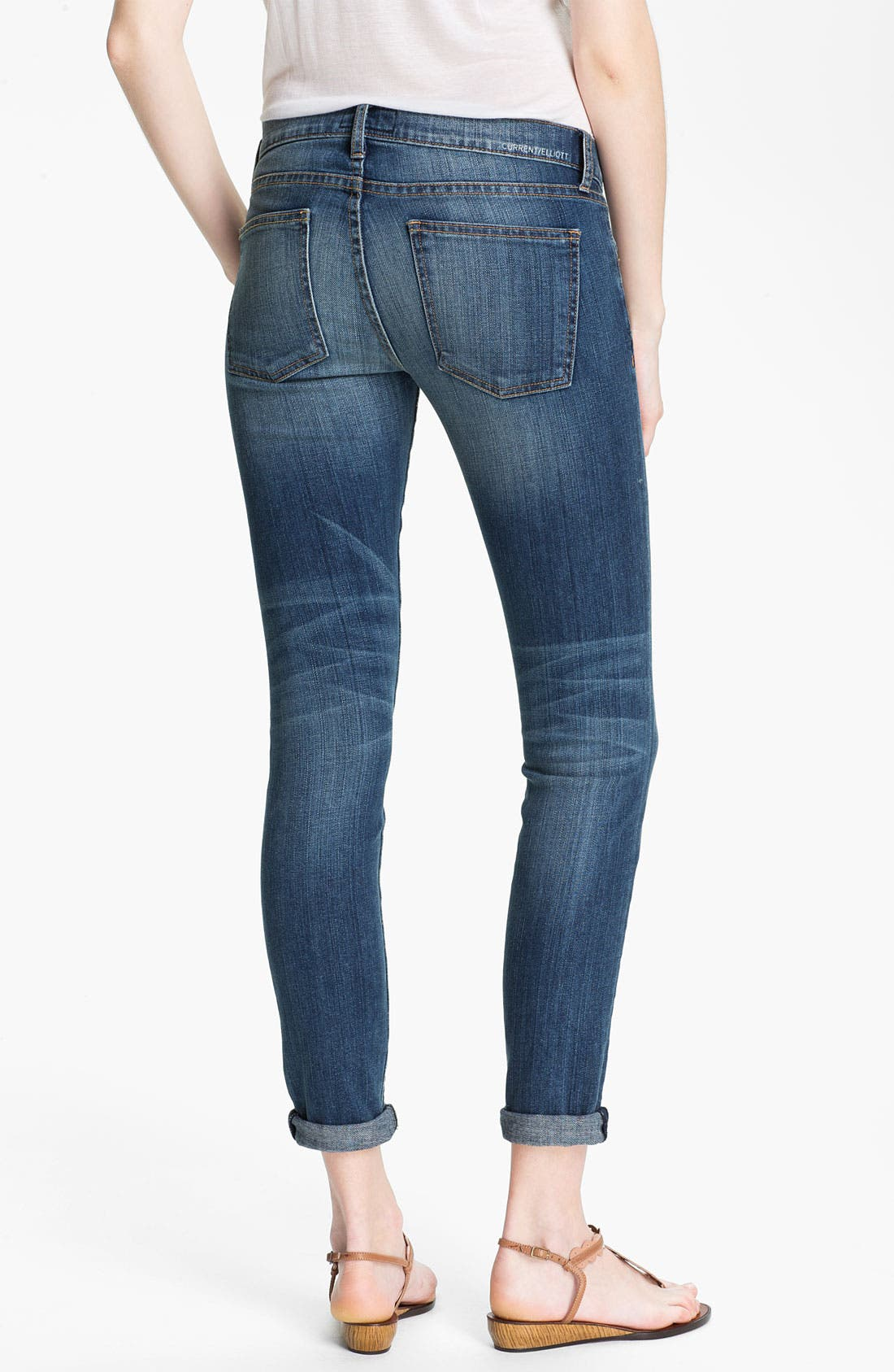 Alternate Image 2  - Current/Elliott 'The Rolled Skinny' Stretch Jeans (Yesterday)
