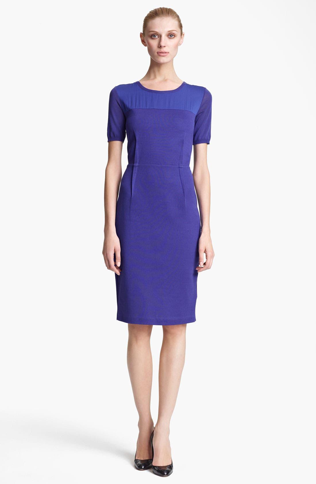 Main Image - Max Mara Techno Knit & Jersey Dress