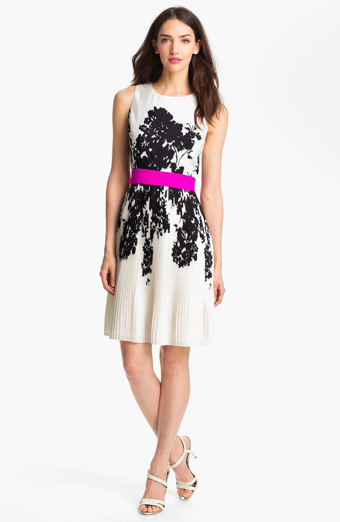 Alternate Image 1 Selected - Eliza J Print Fit & Flare Dress
