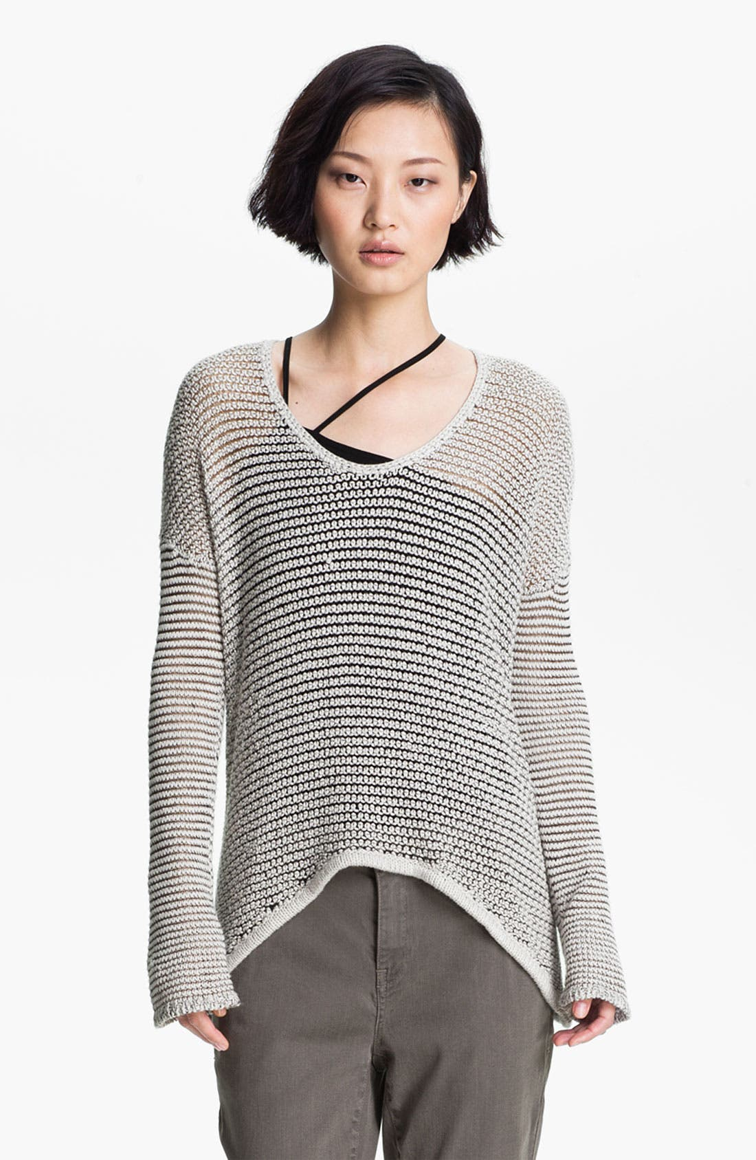 Alternate Image 1 Selected - HELMUT Helmut Lang Open Knit Sweater