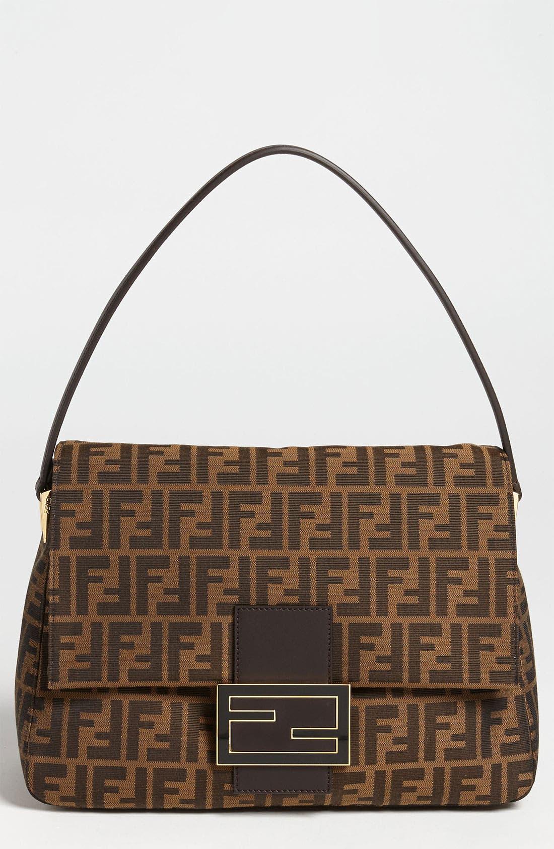 Alternate Image 1 Selected - Fendi 'Zucca - Big Mama' Flap Bag