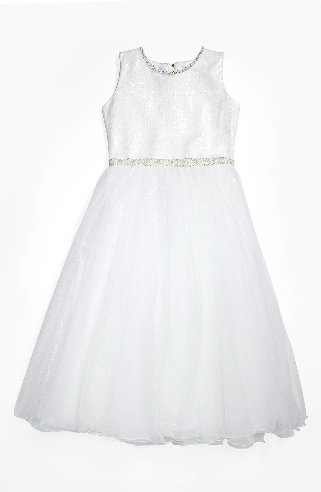 Main Image - Joan Calabrese for Mon Cheri Tulle Dress (Big Girls)