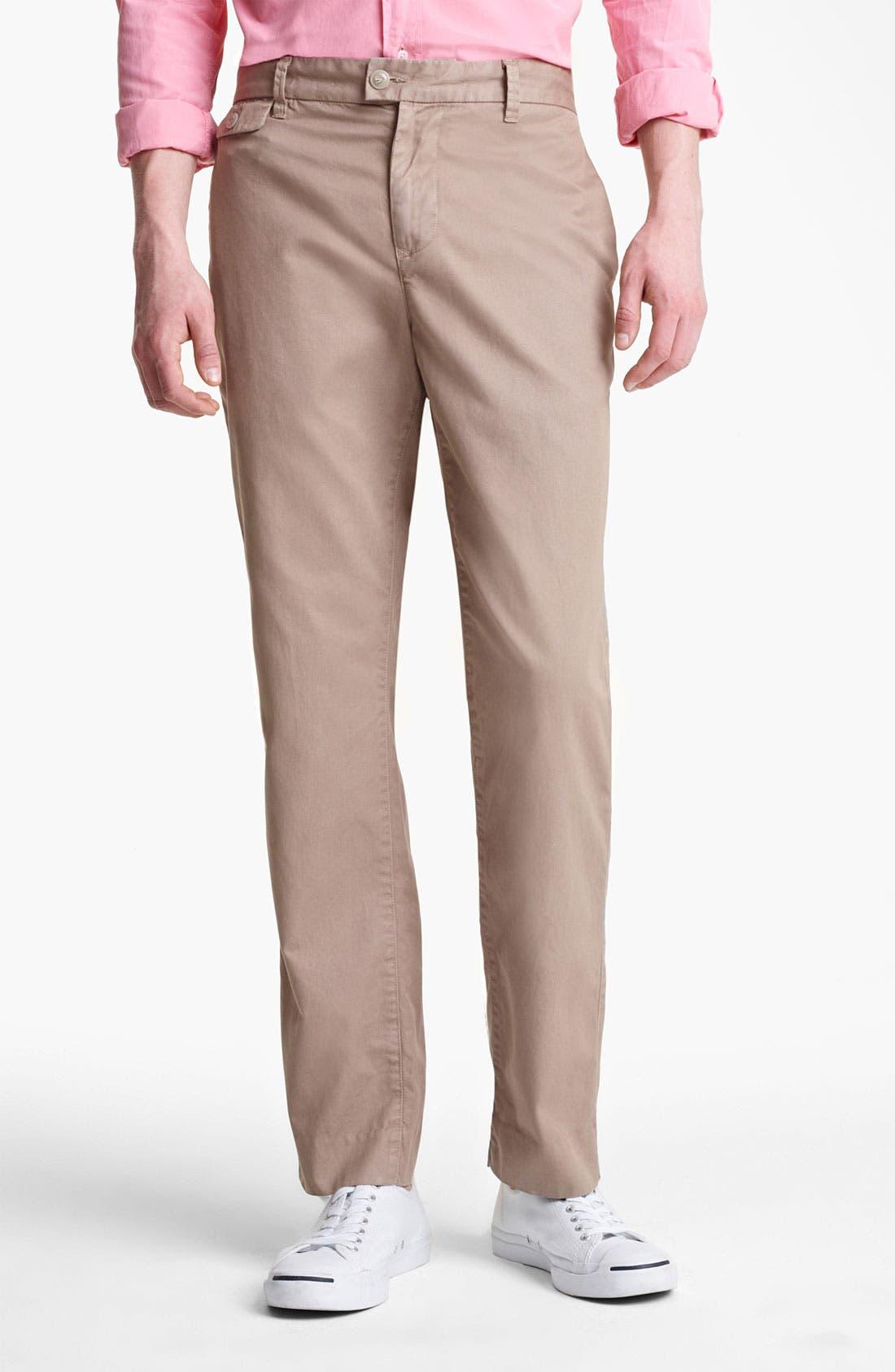 Alternate Image 1 Selected - Save Khaki 'Happy Hour' Slim Straight Leg Pants