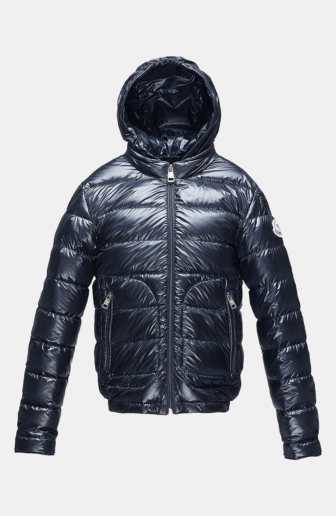 Main Image - Moncler Hooded Down Jacket (Little Boys & Big Boys)