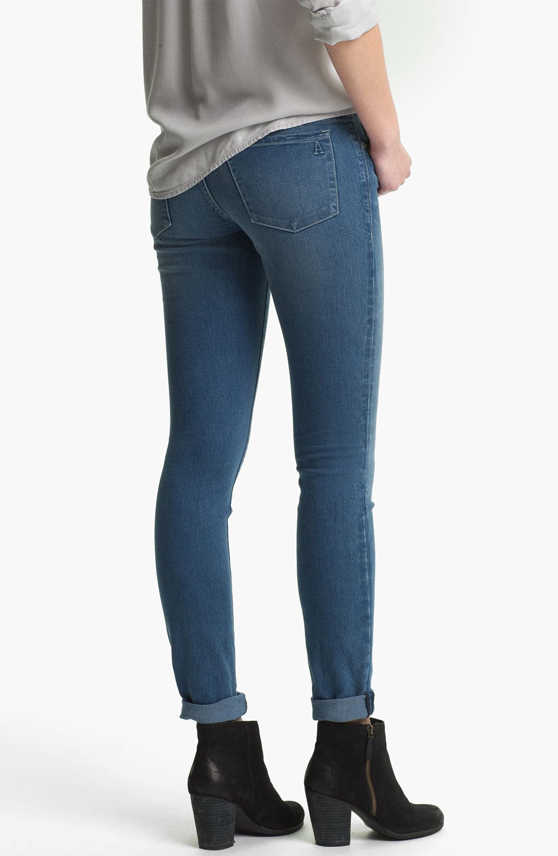 Alternate Image 2  - Articles of Society 'Mya' Skinny Jeans (Atlantic) (Juniors)