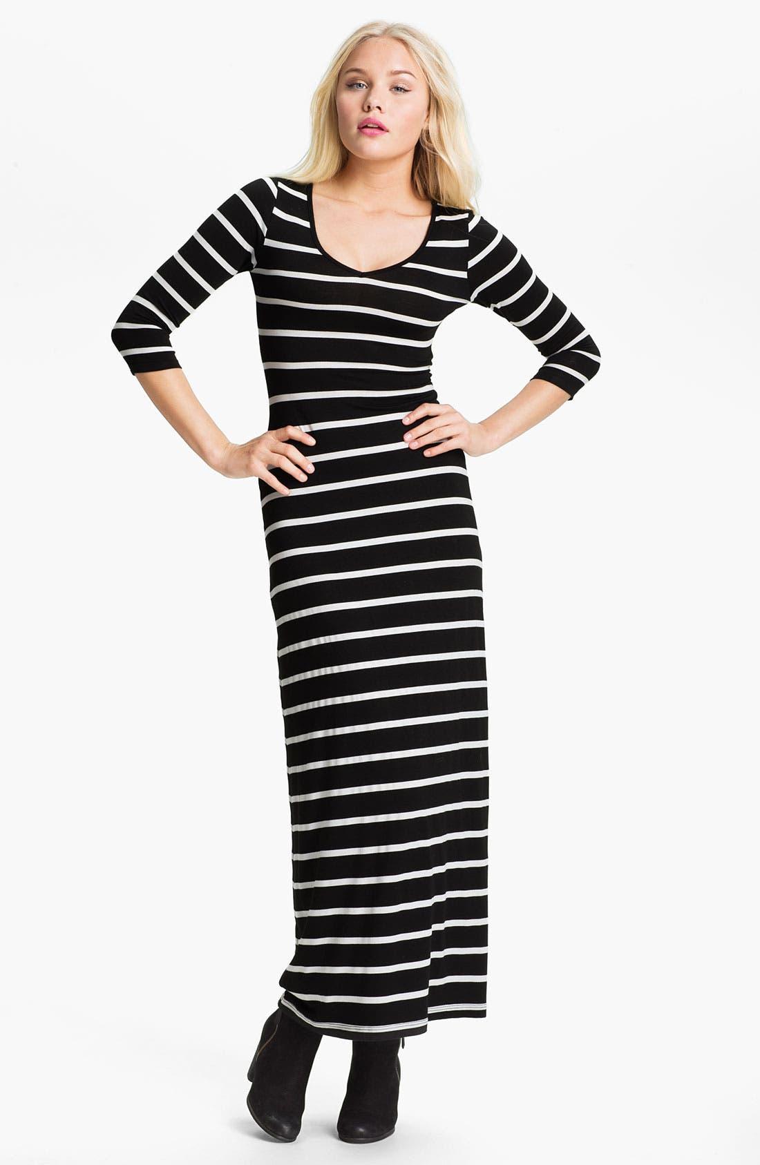 Alternate Image 1 Selected - Soprano Stripe Maxi Dress (Juniors)