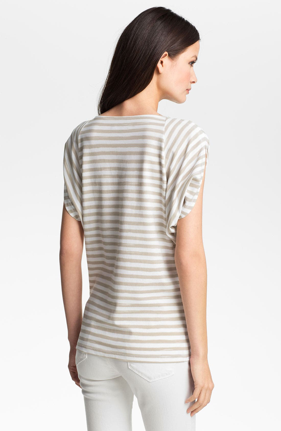Alternate Image 2  - Lafayette 148 New York Butterfly Sleeve Stripe Top
