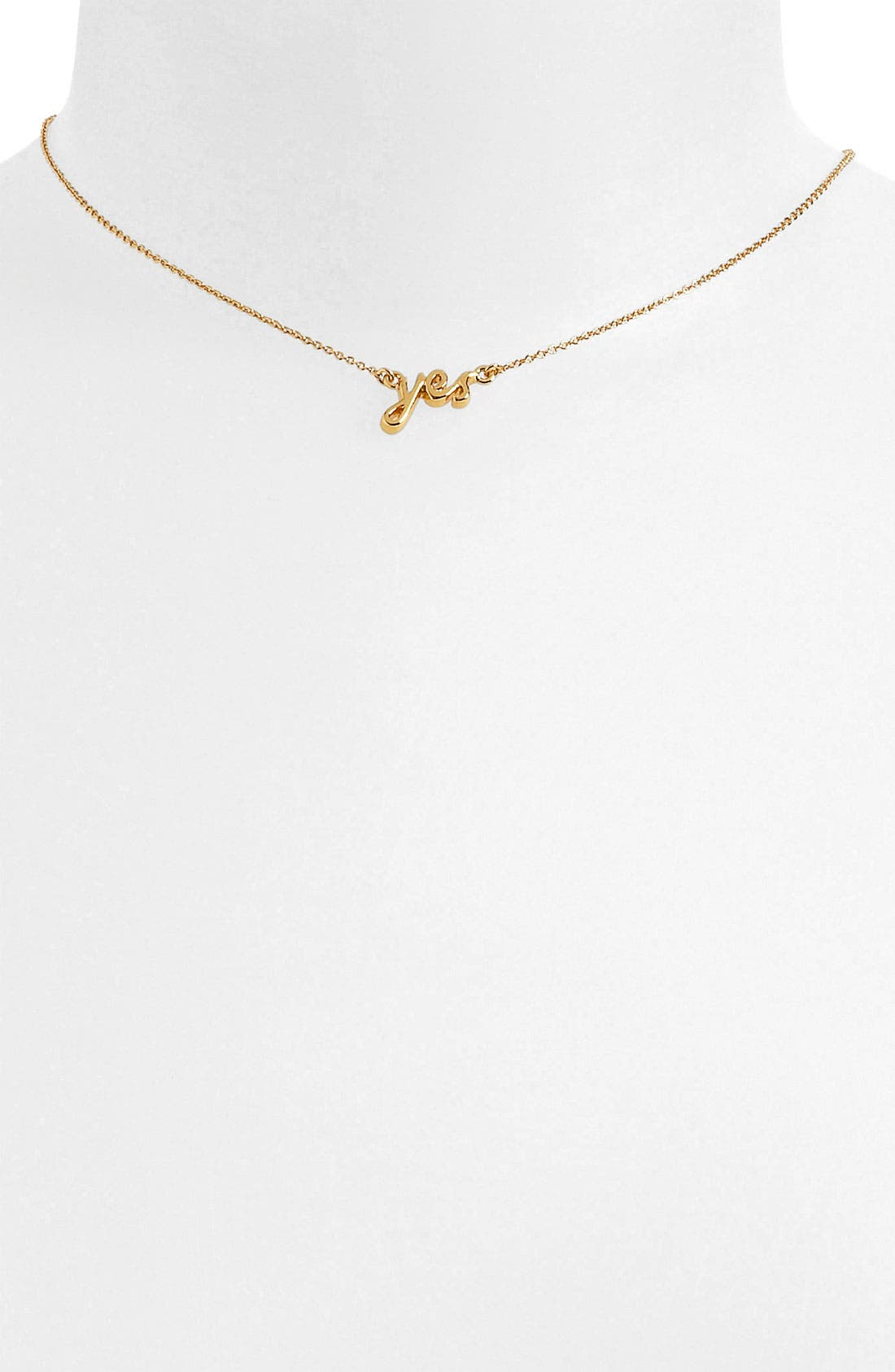 Alternate Image 1 Selected - kate spade new york 'say yes' pendant necklace