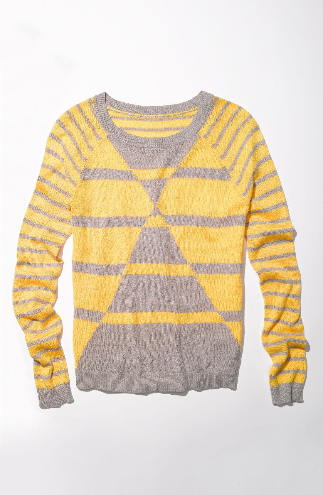 Alternate Image 4  - Caslon 'Geo Stripe' Crewneck Sweater