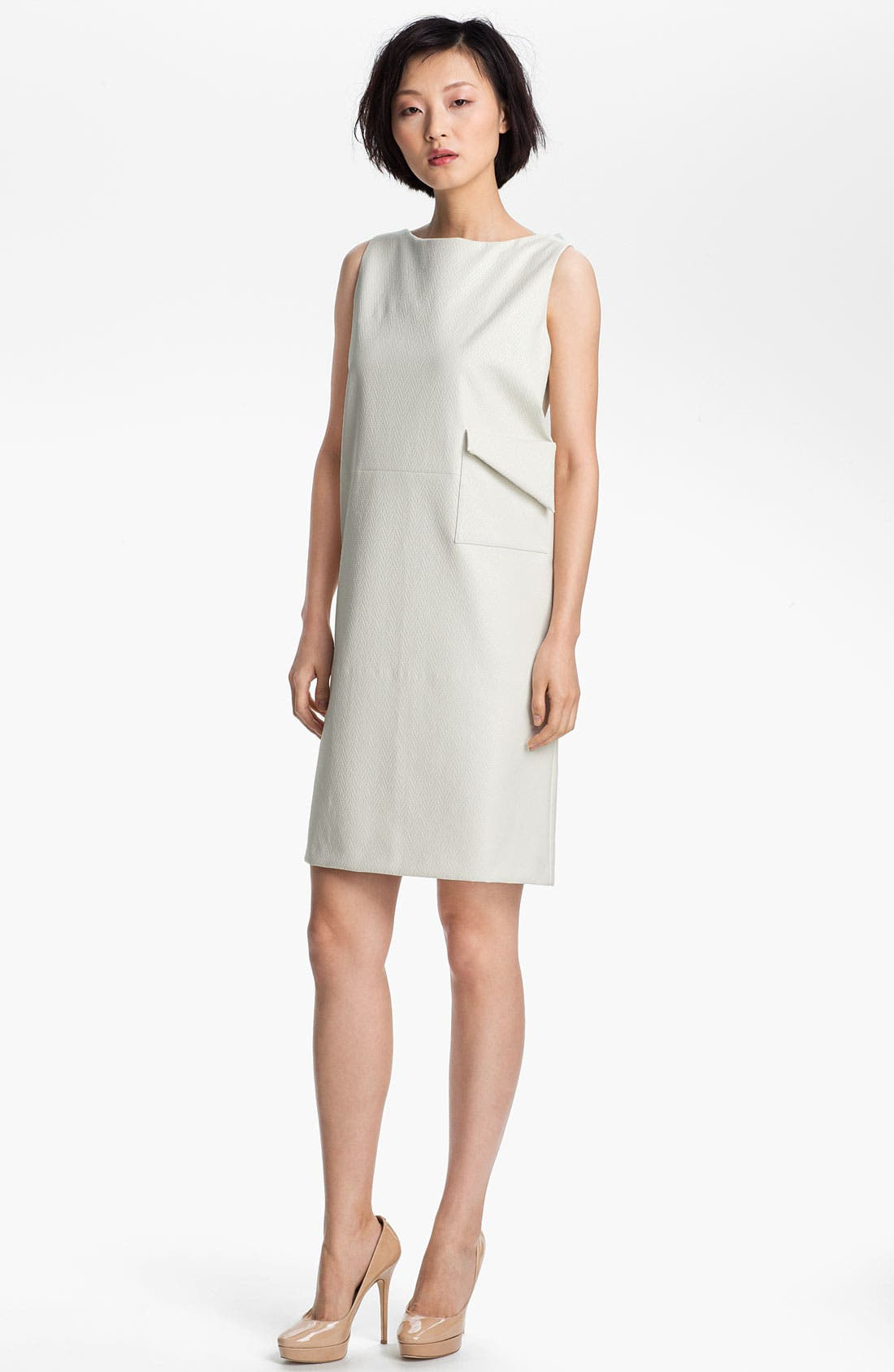 Alternate Image 1 Selected - KENZO Coated Herringbone Shift Dress