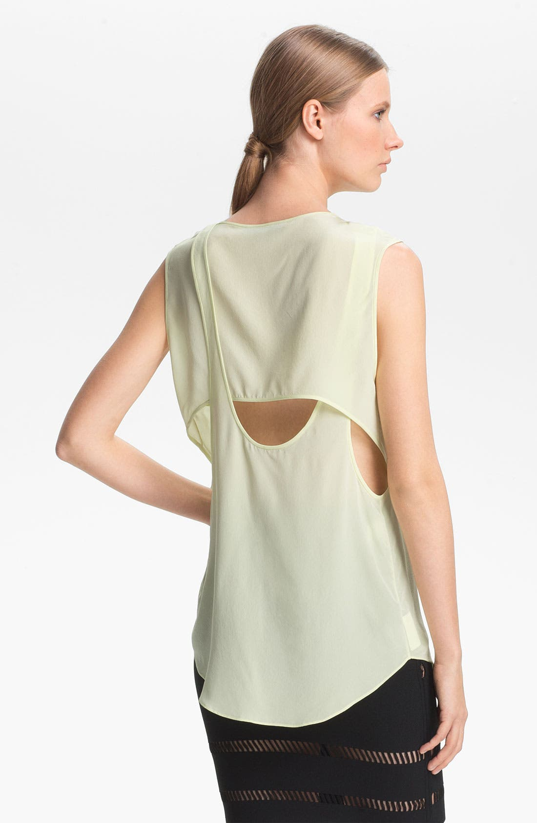 Alternate Image 3  - Alexander Wang Overlapping Crêpe de Chine Tank
