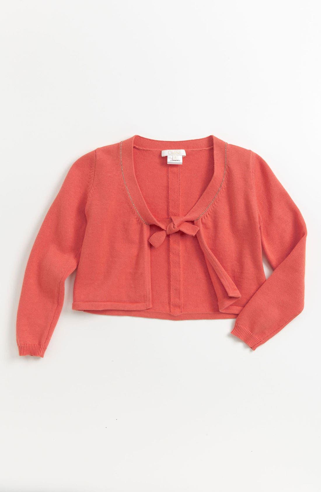 Alternate Image 1 Selected - Chloé Knit Bolero (Toddler, Little Girls & Big Girls)