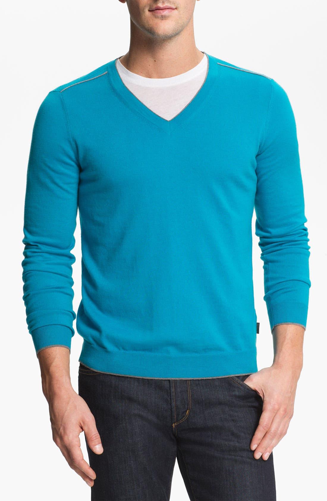 Alternate Image 1 Selected - BOSS Black 'Gary' V-Neck Sweater