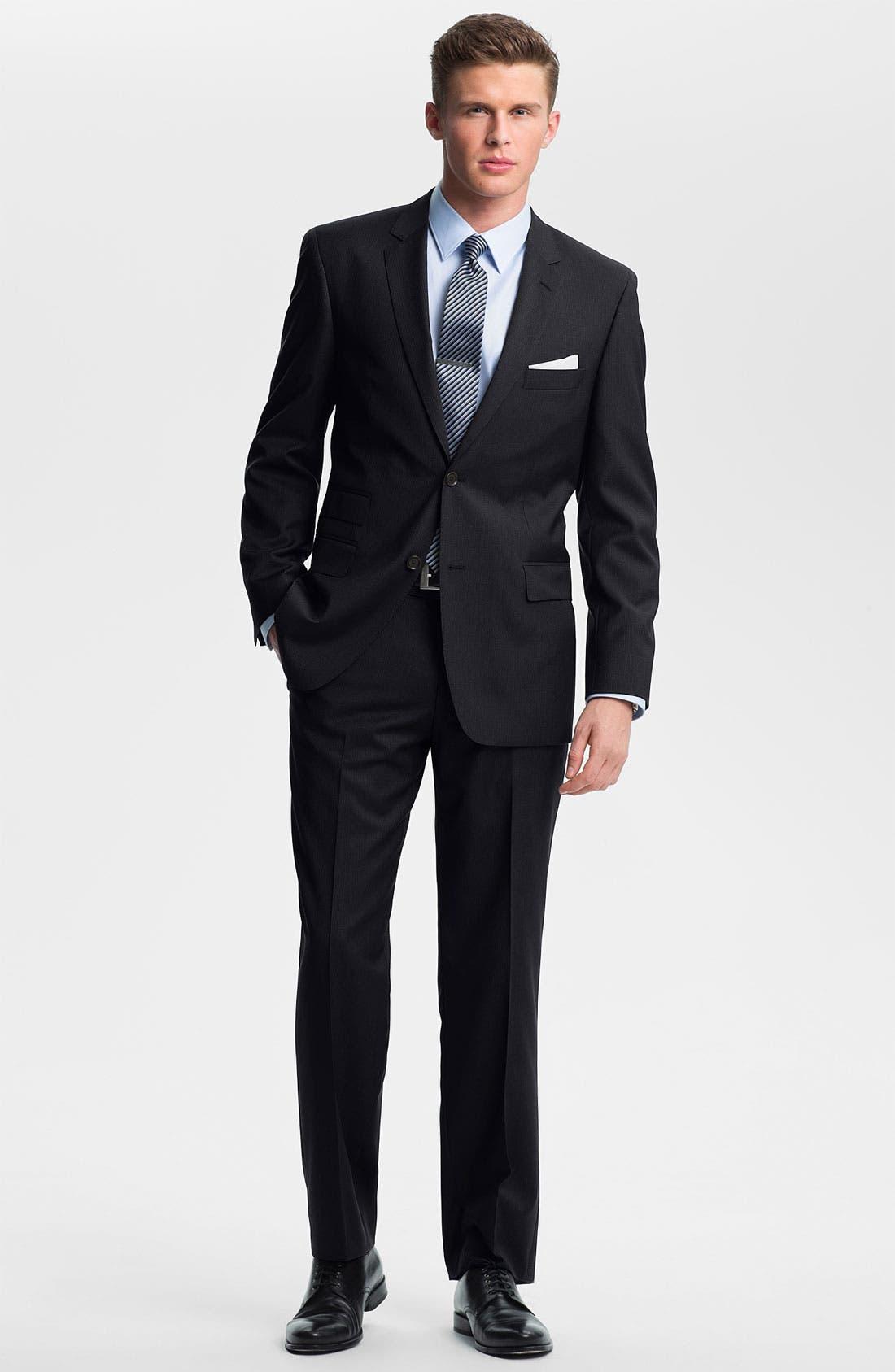Alternate Image 2  - BOSS Black 'Edison/Power' Wool Suit