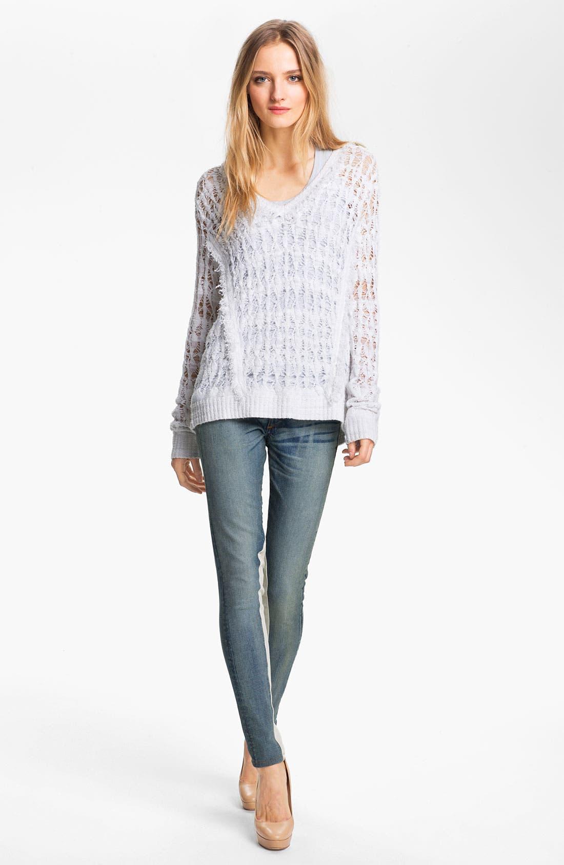 Alternate Image 7  - rag & bone/JEAN Slim Leather & Denim Jeans