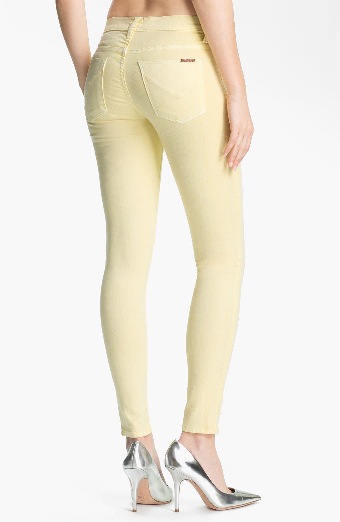 Alternate Image 2  - Hudson Jeans 'Nico' Skinny Overdyed Jeans (Banana)