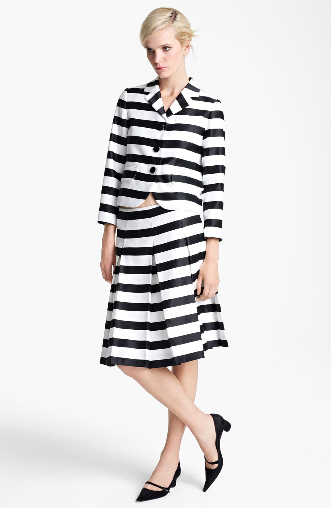 Alternate Image 2  - MARC JACOBS Large Stripe Satin Gabardine Skirt
