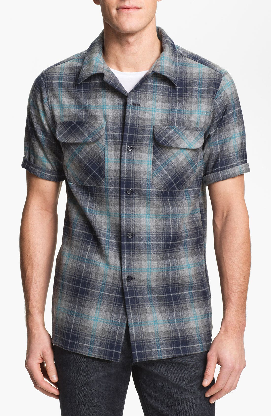 Alternate Image 1 Selected - Pendleton 'Board' Fitted Short Sleeve Wool Shirt