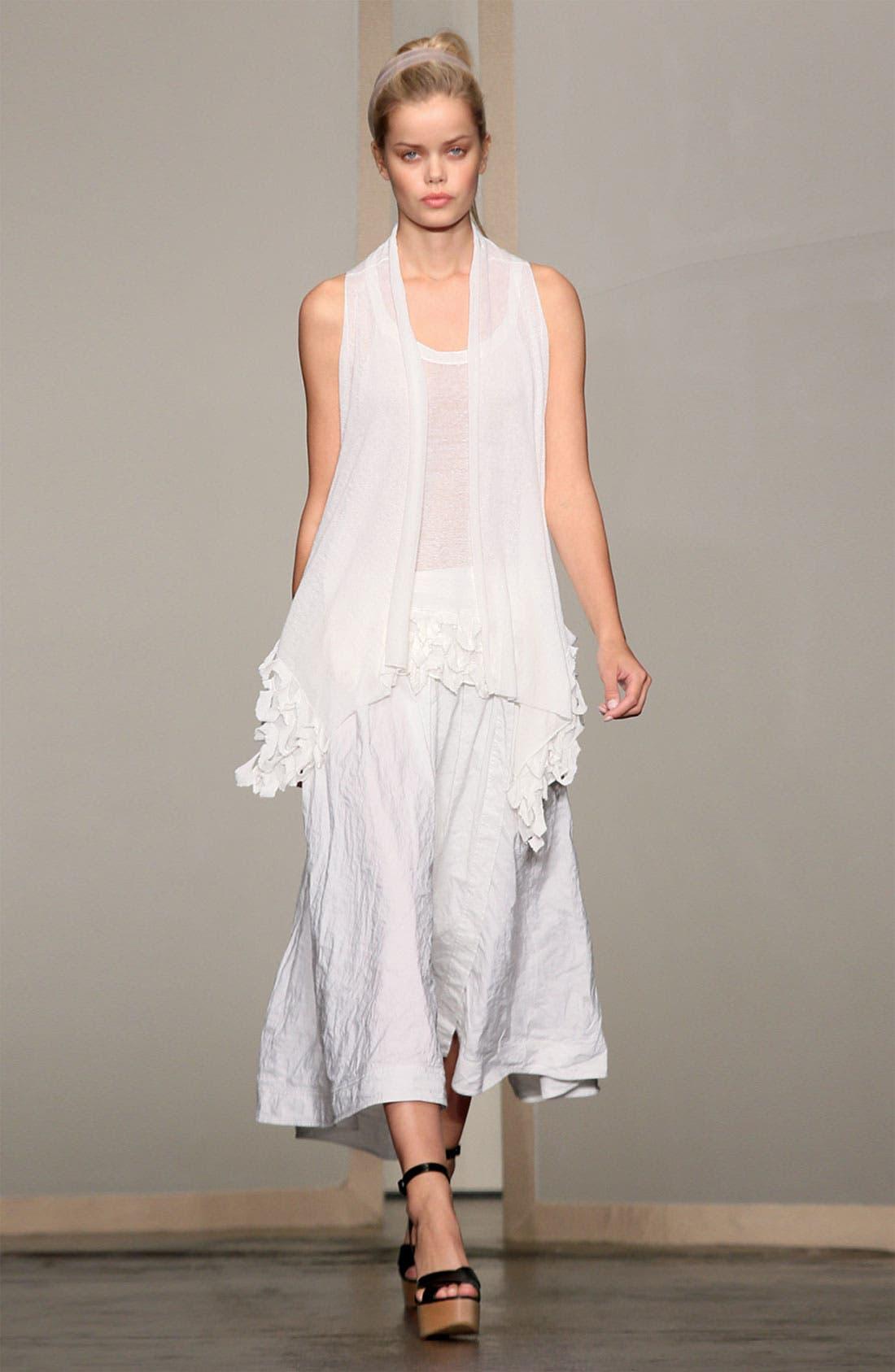Alternate Image 4  - Donna Karan Collection Ruffled Linen Blend Cozy