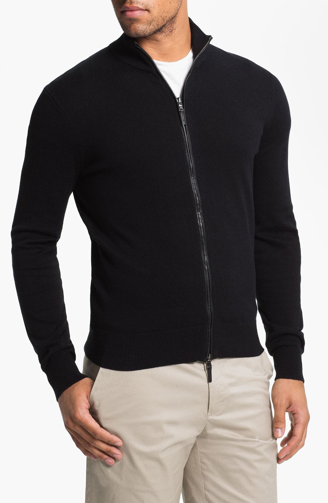 Alternate Image 1 Selected - Michael Kors Zip Cardigan