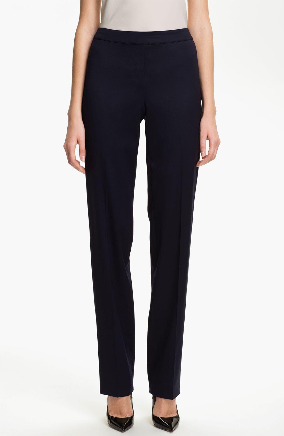 Main Image - St. John Collection 'Diana' Straight Leg Venetian Wool Pants