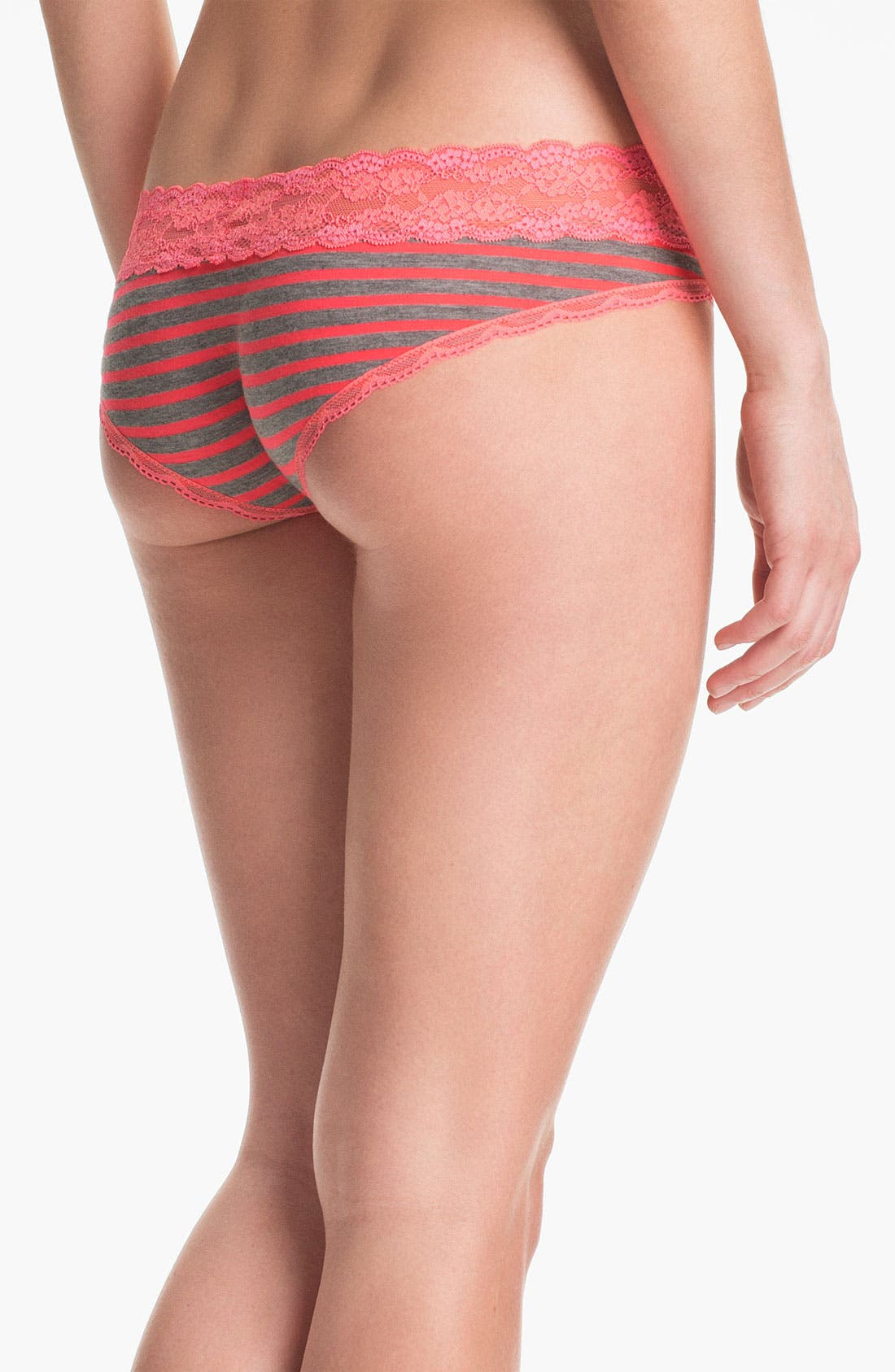 Alternate Image 2  - Honeydew Intimates 'Zenith' Lace & Stripe Hipster Briefs (3 for $30)