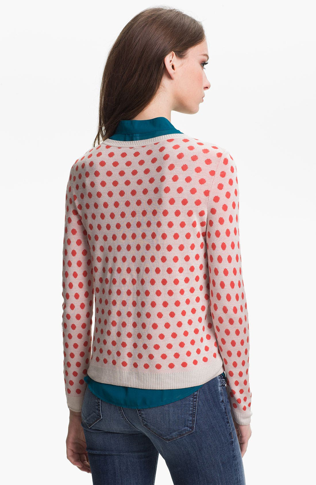 Alternate Image 2  - Kensie Reversible Dot Sweater
