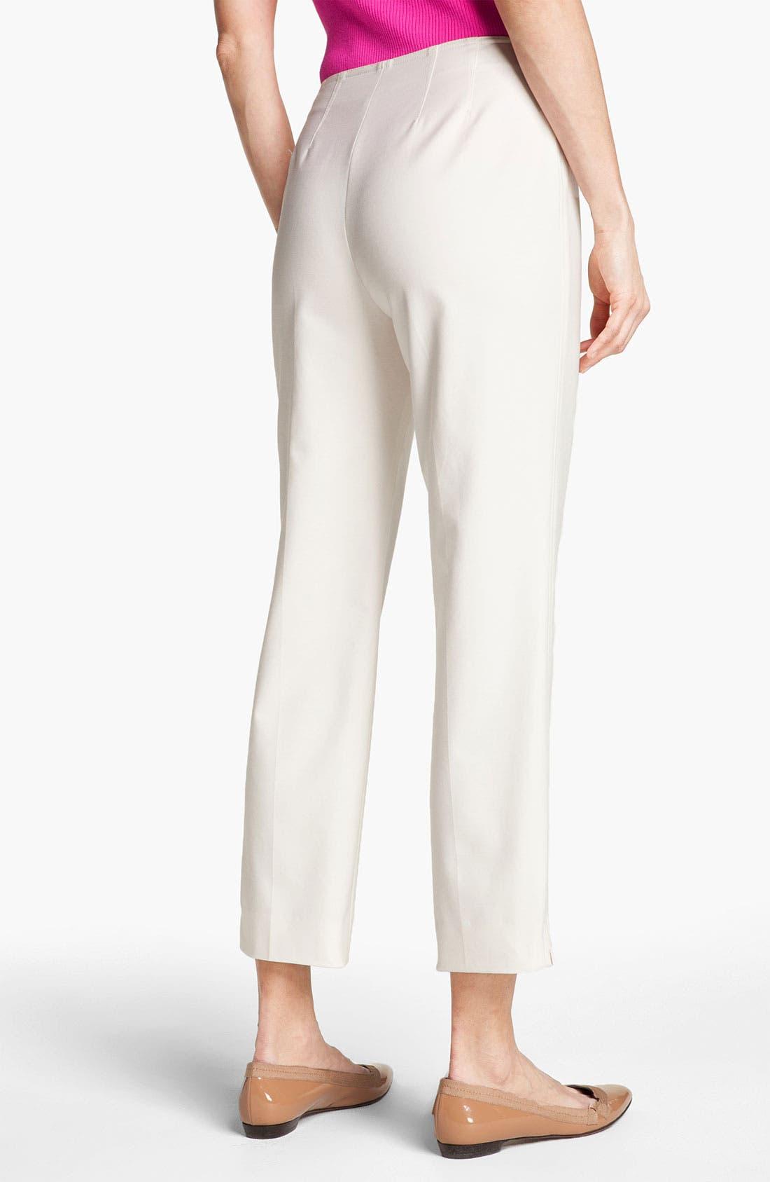 Alternate Image 2  - St. John Yellow Label 'Audrey' Double Weave Stretch Cotton Capri Pants
