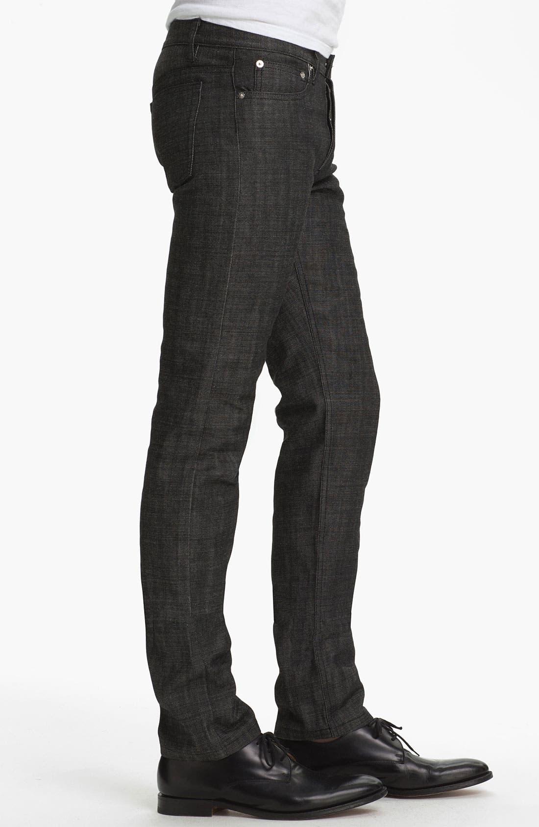Alternate Image 3  - A.P.C. 'Petit Standard' Slim Leg Jeans (Black) (Online Only)