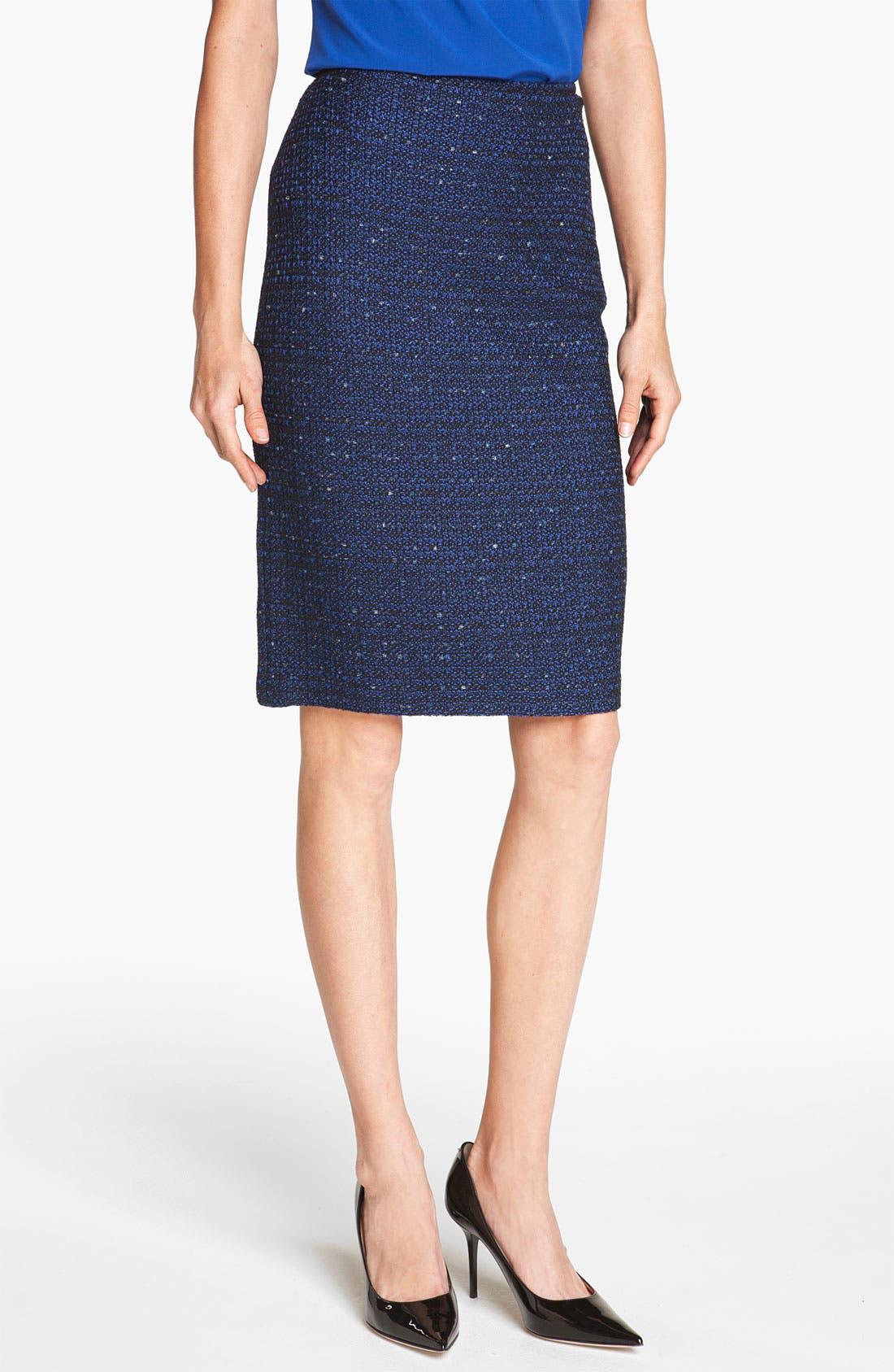 Main Image - St. John Collection Tweed Knit Pencil Skirt