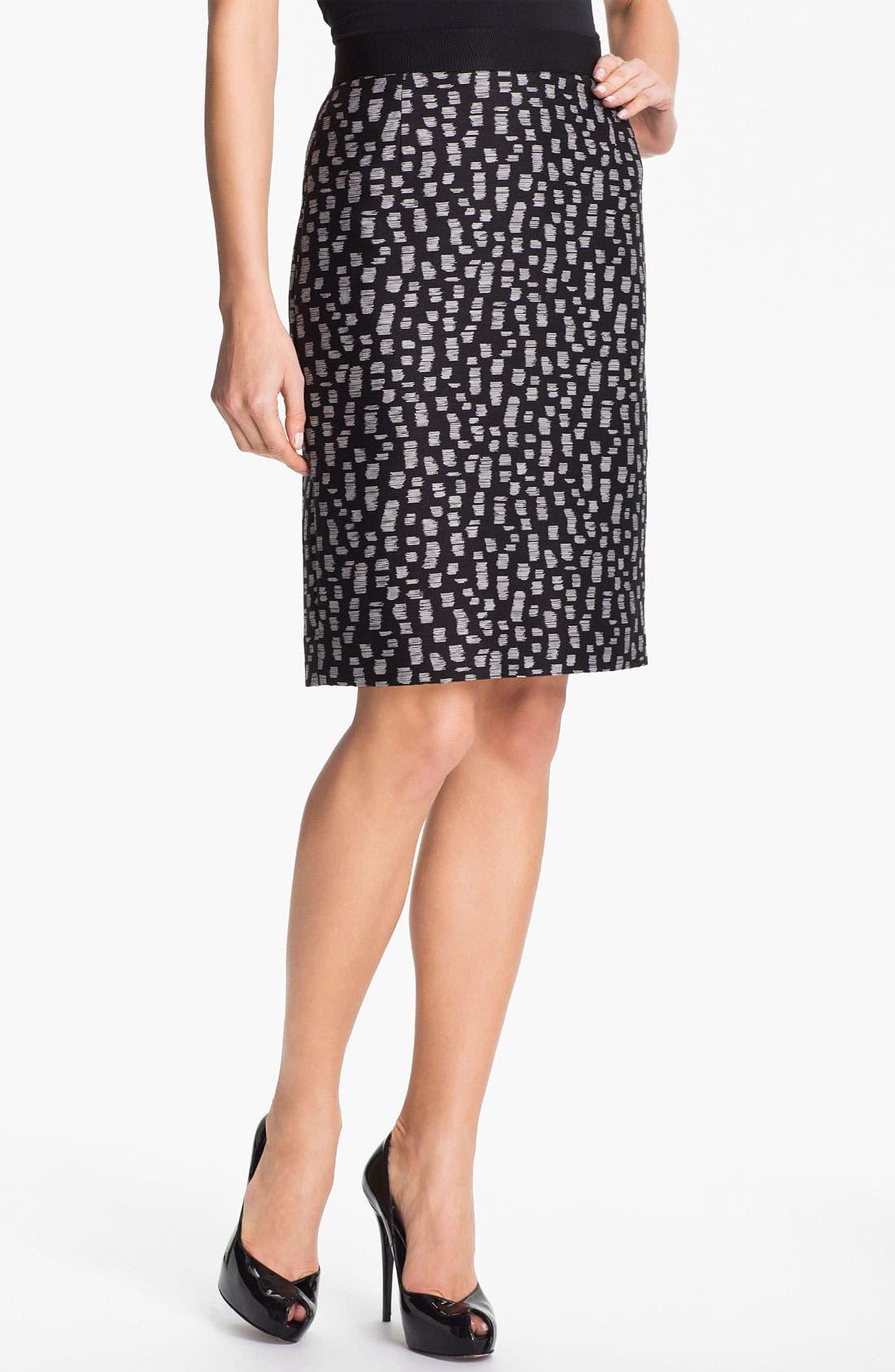 Main Image - Classiques Entier® 'Campania' Jacquard Skirt